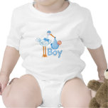 Baby Boy with Stork Shirt