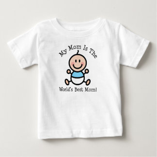 Baby Boy Worlds Best Mom Mothers Day Baby T-Shirt