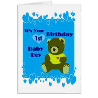 Baby Boys 1st Birthday Card