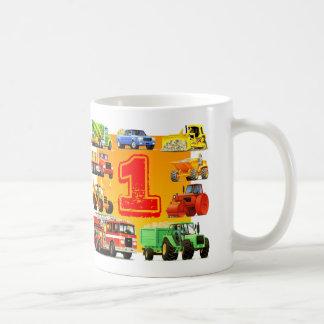 Baby Boys 1st Birthday Construction Truck Coffee Mug