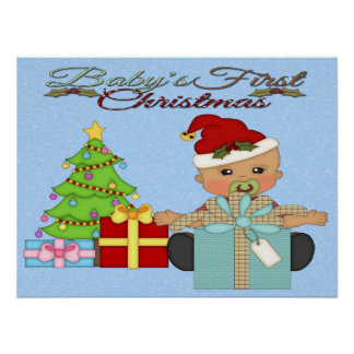 Baby Boy's 1st Christmas Poster/Print Poster