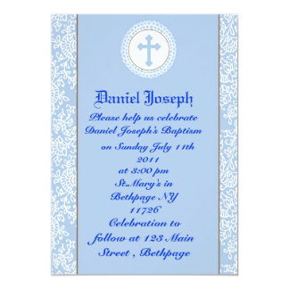 Baby Boys Baptism/Christening Card
