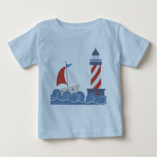 Baby Boys Boat and Lighthouse Infant T-Shirt