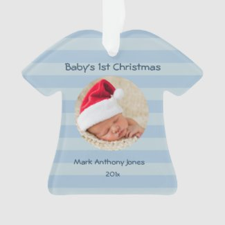 Baby Boy's First Christmas Acrylic Ornament