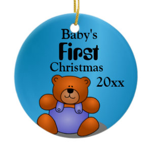 Baby Boy's First Christmas Ornament