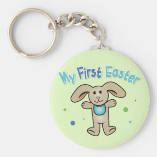 Baby Boy's First Easter Keychain
