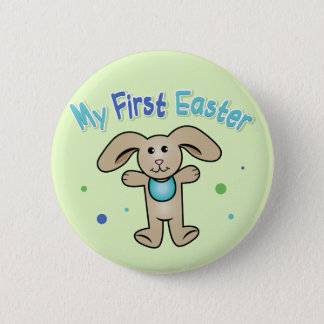 Baby Boy's First Easter Pinback Button