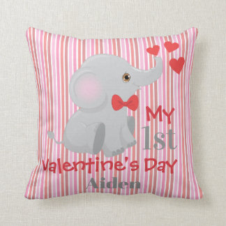 Baby Boy's First Valentine's Day Throw Pillow