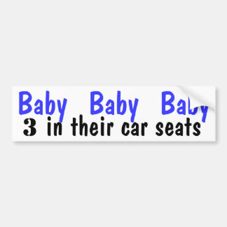 Baby Boys In Car Bumper Sticker