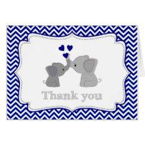 Baby Boys NAVY Blue Elephant THANK YOU Cards#2 366