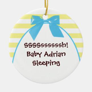 baby boy's room blue door hanger christmas tree ornament