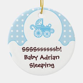 baby boy's room blue door hanger ornament