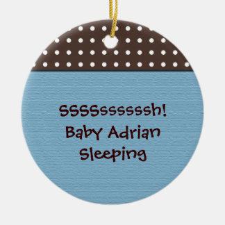 baby boy's room blue door hanger christmas ornaments