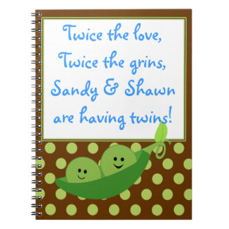 Baby Boys Twins Peas in a Pod Notebook