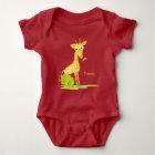 Baby Boys Watercolor Giraffe Personalized Animal Baby Bodysuit