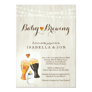 Couples baby shower invitations zazzle baby brewing couples baby shower invitation filmwisefo