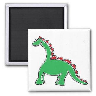 Baby Brontosaurus Cartoon Magnet