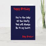 "Baby brother Birthday Card<br><div class=""desc"">Birthday cards with dedication to  baby brother</div>"