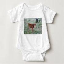 Baby Brown Cow . Baby Bodysuit