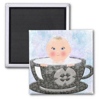Baby bubble bath tea cup fridge magnets