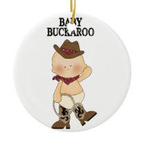 Baby Buckaroo Custom Birth Ornament