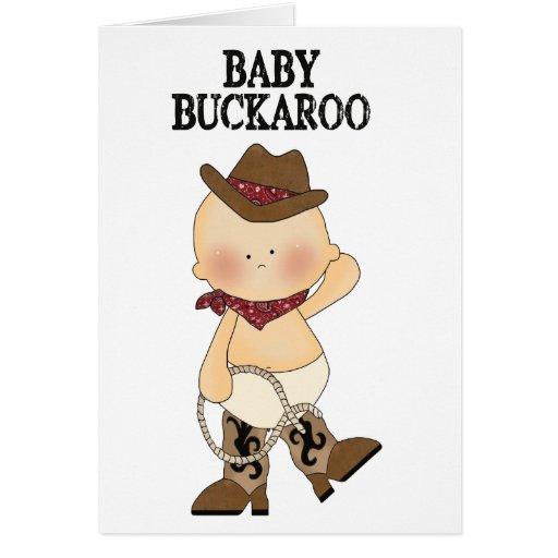 Baby Buckaroo Western Custom Birth Announcement Greeting Cards