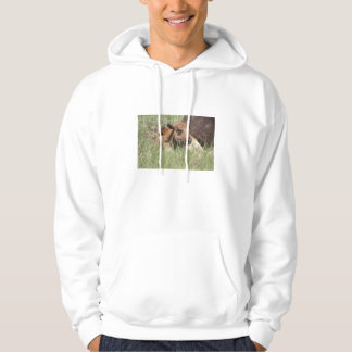 Baby Buffalo Adult Hooded Sweatshirt