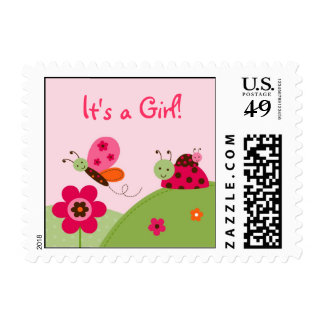 Baby Bug Ladybug Butterfly Postage Stamps