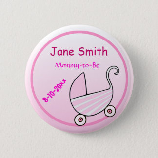 Baby Buggy Baby Shower Button