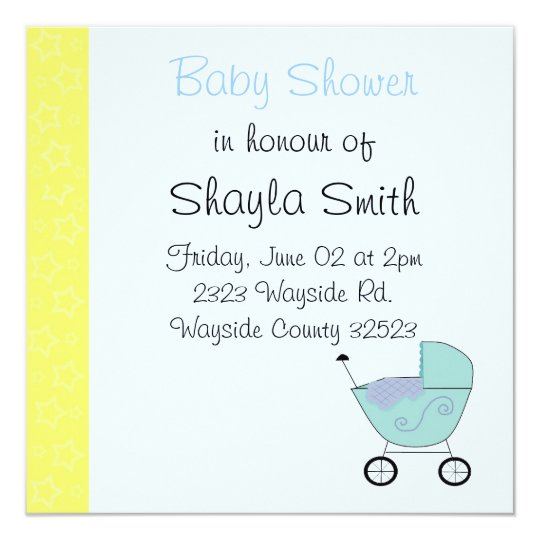 Baby Buggy Baby Shower Invitation