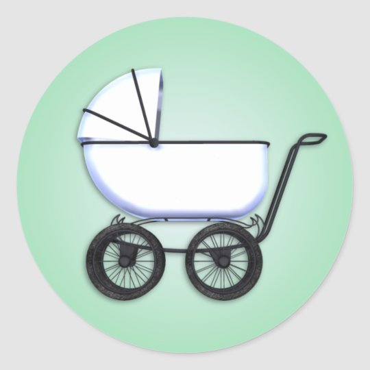 Baby Buggy Green Sticker