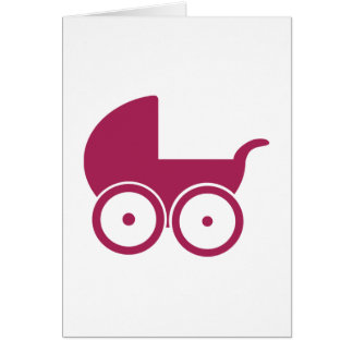 Baby buggy greeting cards