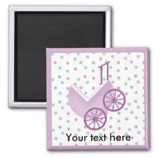 Baby Buggy Lavender Magnet