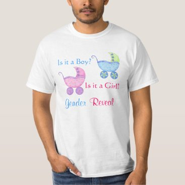 Toddler & Baby themed Baby Buggy Pink Blue Gender Reveal Party Man's T-Shirt