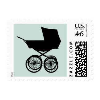 Baby Buggy Postage in Blue