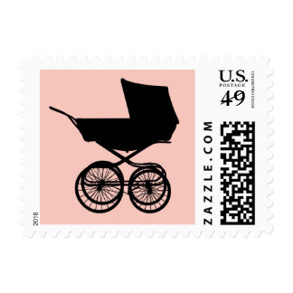 Baby Buggy Postage in Pink