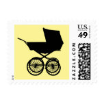 Baby Buggy Postage in Yellow