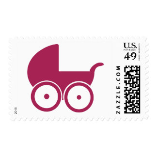 Baby buggy postage stamp