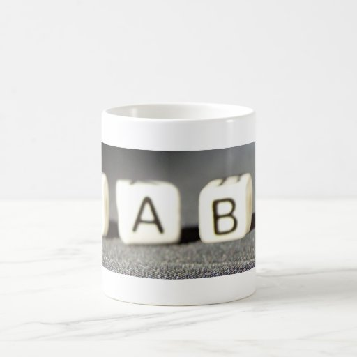 Baby Building Block Letters Coffee Mug