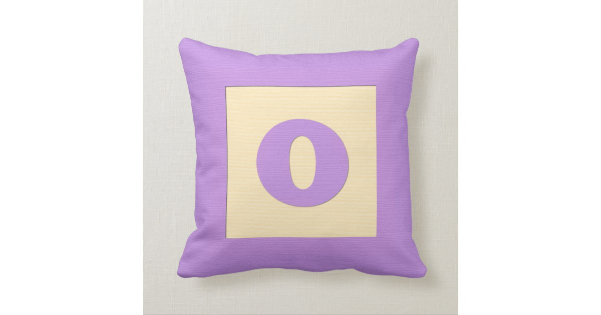 Letter B Throw Pillow : Baby building block throw pIllow letter O (purple) Zazzle
