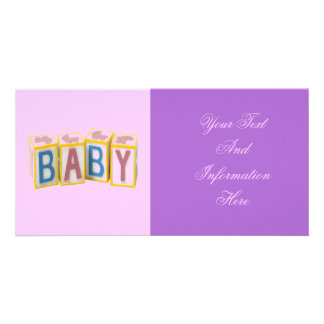 Baby Building Blocks Photo Card