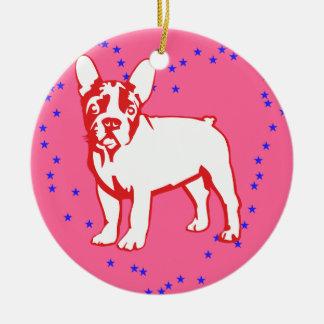 Baby Bulldog Ceramic Ornament