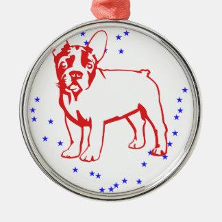 Baby Bulldog Metal Ornament