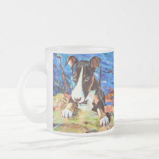 Baby Bullet - Bull Terrior Frosted Glass Coffee Mug