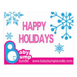 Baby Bump Bundle Holiday Postcard