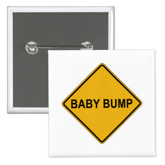 Baby Bump Maternity 2 Inch Square Button