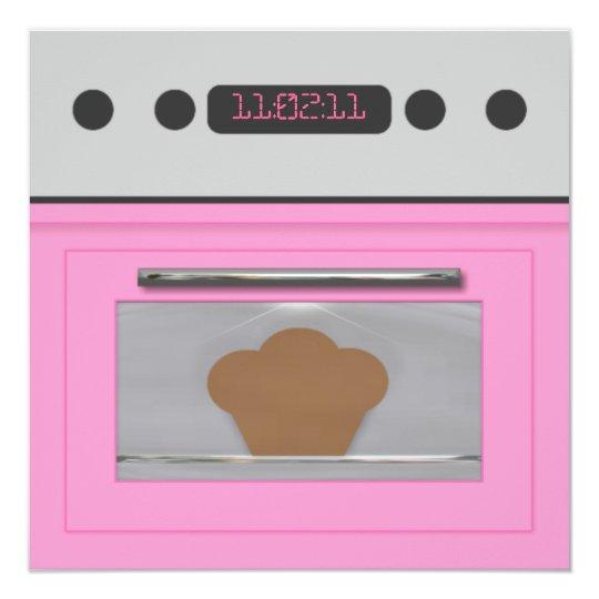 Baby Bun Recipe Invitation(light pink) Card