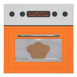 Baby Bun Recipe Invitation(orange one) Card