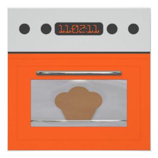 Baby Bun Recipe Invitation(orange three) Card