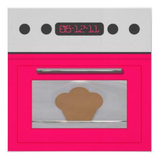 Baby Bun Recipe Invitation(pink) Card
